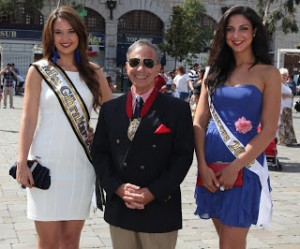 Miss Gibraltar 2012, Jessica Baldachino; Mayor julio Alcantara; First Pincess, Kerianne Massetti